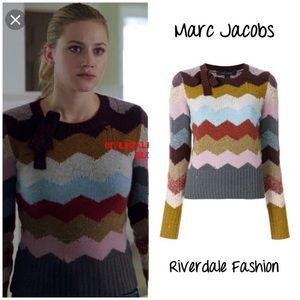 Marc Jacobs cashmere chevron intarsia sweater S